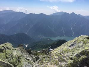 立山 頂上からの黒四と北アルプス