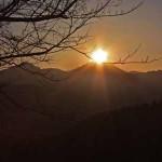 高尾山からのダイヤモンド富士
